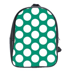 Emerald Green Polkadot School Bag (xl)