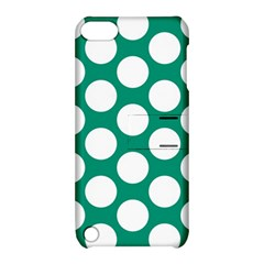 Emerald Green Polkadot Apple iPod Touch 5 Hardshell Case with Stand