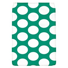 Emerald Green Polkadot Removable Flap Cover (small)