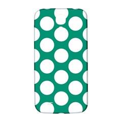 Emerald Green Polkadot Samsung Galaxy S4 I9500/I9505  Hardshell Back Case