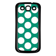 Emerald Green Polkadot Samsung Galaxy S3 Back Case (black)