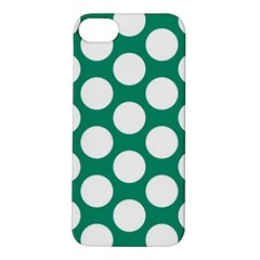Emerald Green Polkadot Apple iPhone 5S Hardshell Case