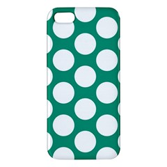 Emerald Green Polkadot iPhone 5S Premium Hardshell Case