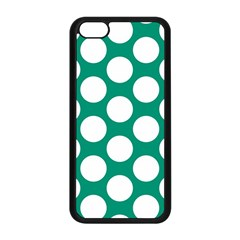 Emerald Green Polkadot Apple iPhone 5C Seamless Case (Black)