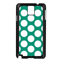 Emerald Green Polkadot Samsung Galaxy Note 3 N9005 Case (Black)