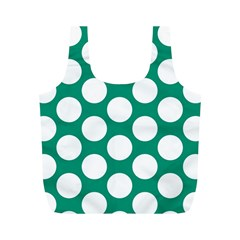 Emerald Green Polkadot Reusable Bag (M)