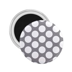 Grey Polkadot 2.25  Button Magnet