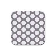 Grey Polkadot Drink Coasters 4 Pack (Square)