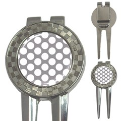 Grey Polkadot Golf Pitchfork & Ball Marker