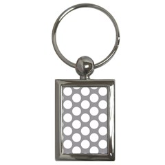 Grey Polkadot Key Chain (Rectangle)