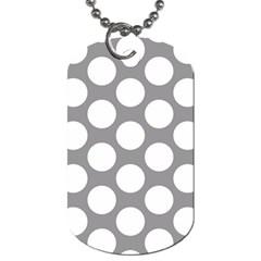 Grey Polkadot Dog Tag (one Sided)