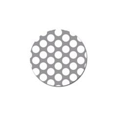 Grey Polkadot Golf Ball Marker