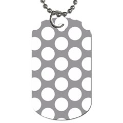 Grey Polkadot Dog Tag (two Sided)