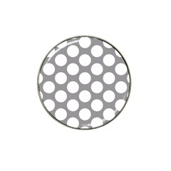 Grey Polkadot Golf Ball Marker (for Hat Clip)