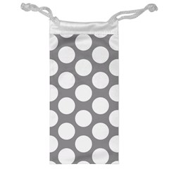 Grey Polkadot Jewelry Bag