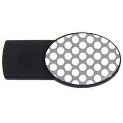 Grey Polkadot 4GB USB Flash Drive (Oval)