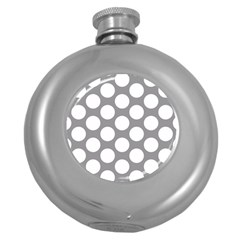 Grey Polkadot Hip Flask (round)