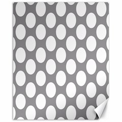 Grey Polkadot Canvas 16  X 20  (unframed)