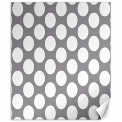 Grey Polkadot Canvas 20  X 24  (unframed)