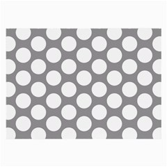 Grey Polkadot Glasses Cloth (Large, Two Sided)