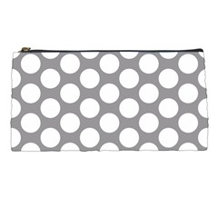Grey Polkadot Pencil Case
