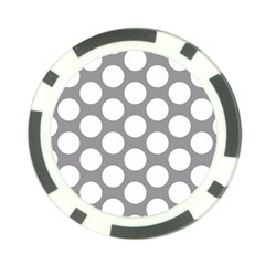 Grey Polkadot Poker Chip (10 Pack)