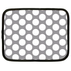 Grey Polkadot Netbook Sleeve (xl)