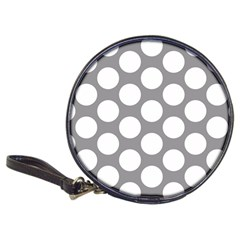 Grey Polkadot CD Wallet