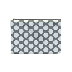 Grey Polkadot Cosmetic Bag (Medium)