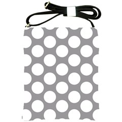 Grey Polkadot Shoulder Sling Bag