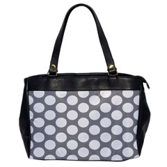 Grey Polkadot Oversize Office Handbag (one Side)