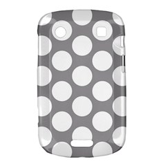 Grey Polkadot BlackBerry Bold Touch 9900 9930 Hardshell Case