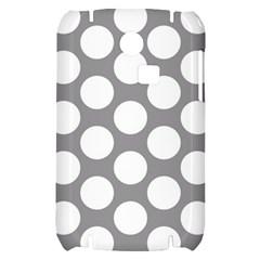 Grey Polkadot Samsung S3350 Hardshell Case