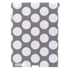 Grey Polkadot Apple iPad 3/4 Hardshell Case (Compatible with Smart Cover)