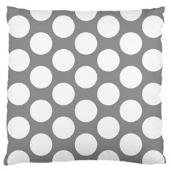 Grey Polkadot Large Cushion Case (Single Sided)