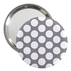 Grey Polkadot 3  Handbag Mirror