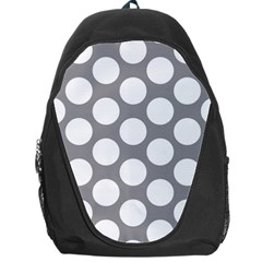 Grey Polkadot Backpack Bag