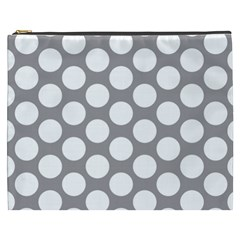 Grey Polkadot Cosmetic Bag (XXXL)