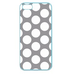 Grey Polkadot Apple Seamless iPhone 5 Case (Color)