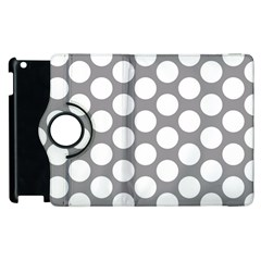 Grey Polkadot Apple iPad 2 Flip 360 Case
