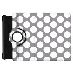 Grey Polkadot Kindle Fire Hd 7  (1st Gen) Flip 360 Case
