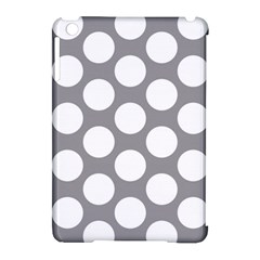 Grey Polkadot Apple iPad Mini Hardshell Case (Compatible with Smart Cover)