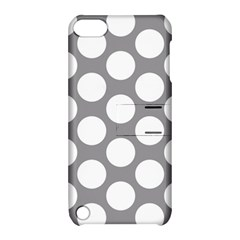 Grey Polkadot Apple iPod Touch 5 Hardshell Case with Stand