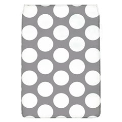 Grey Polkadot Removable Flap Cover (Large)