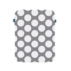 Grey Polkadot Apple iPad Protective Sleeve