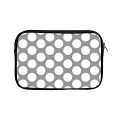 Grey Polkadot Apple iPad Mini Zippered Sleeve