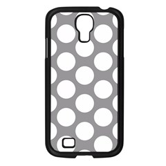 Grey Polkadot Samsung Galaxy S4 I9500/ I9505 Case (Black)