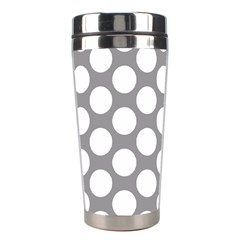 Grey Polkadot Stainless Steel Travel Tumbler