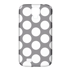 Grey Polkadot Samsung Galaxy S4 Classic Hardshell Case (PC+Silicone)