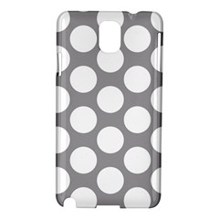 Grey Polkadot Samsung Galaxy Note 3 N9005 Hardshell Case